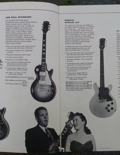 1960 Gibson Catalog showing the thick body SGs